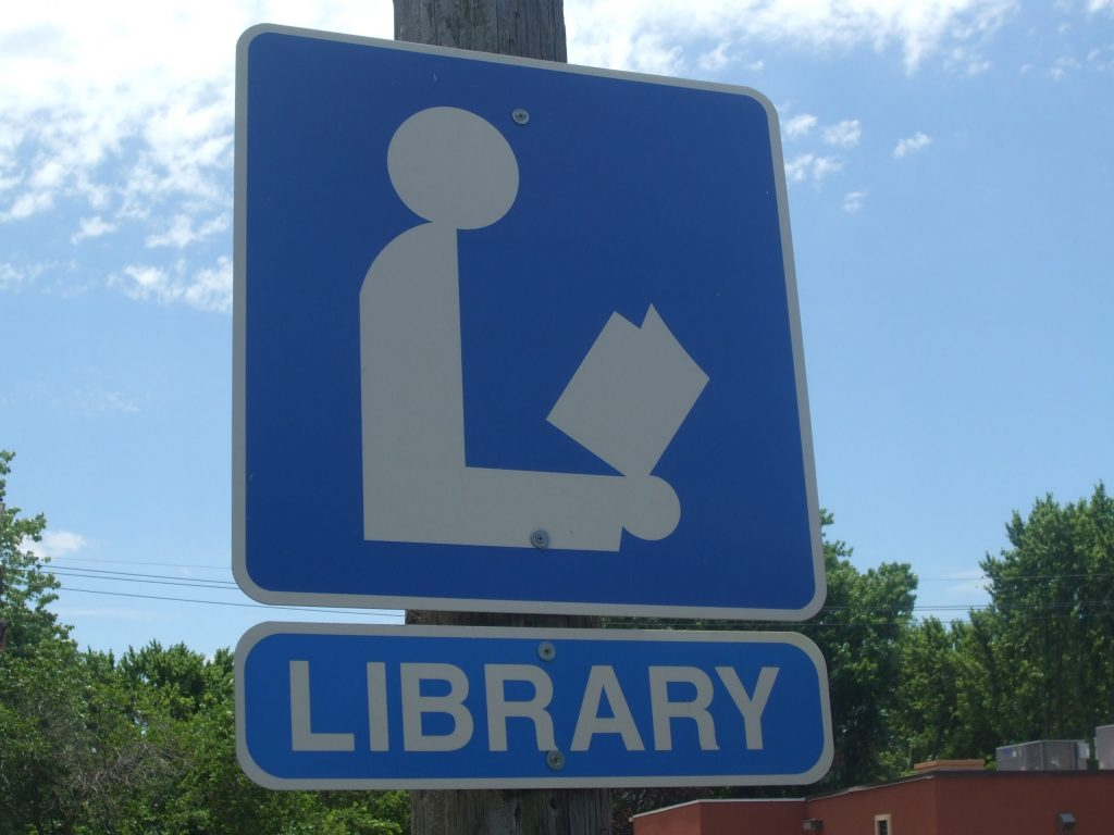Sign of Library