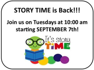 Story Time Announcement